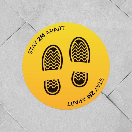 Social Distancing Floor Stickers - Stay 2m Apart 0