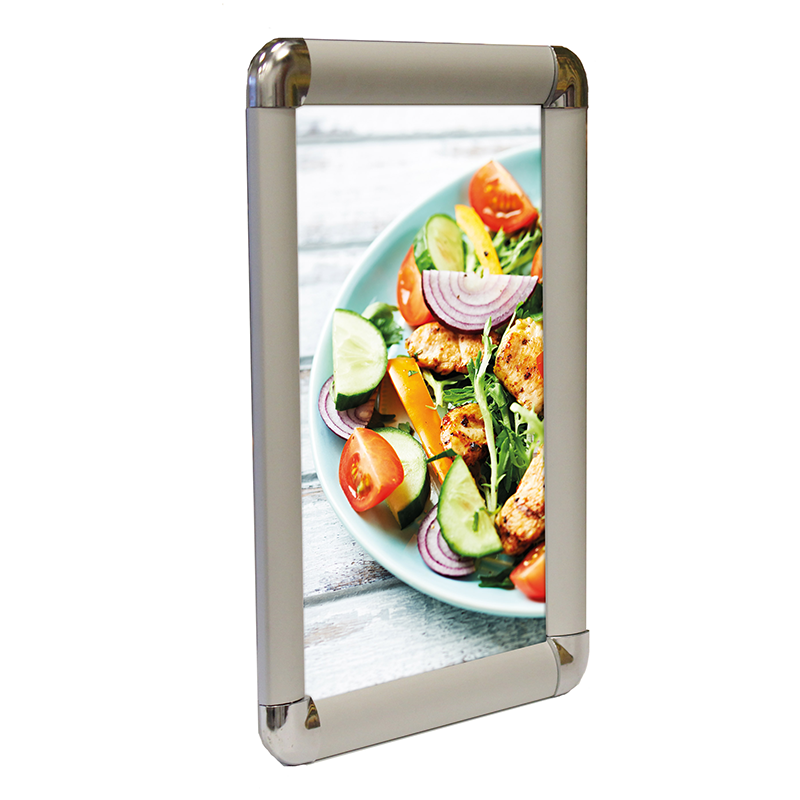30mm Snap Frame Round - Silver Main