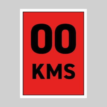 45 x 60 cm Correx Signs - KM Markers 1