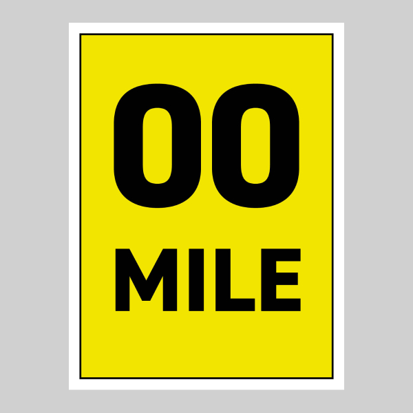 45 x 60 cm Correx Signs - Mile Markers Main
